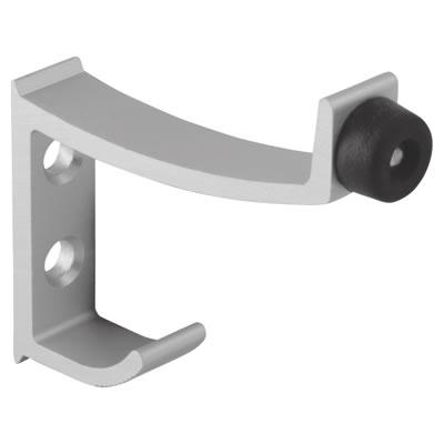 Premier Hat & Coat Hook - Satin Anodised Aluminium - 12-13mm Panels