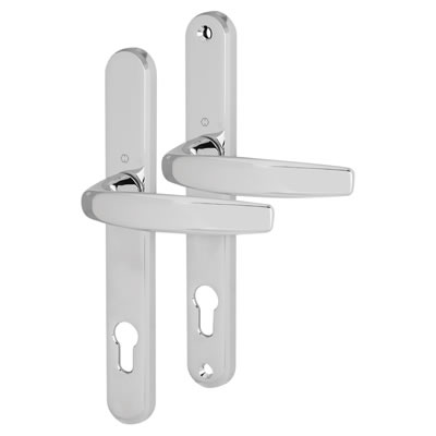 Hoppe Atlanta Multipoint Handle - uPVC/Timber - 92mm centres - 70mm door thickness - Polished Chrom)