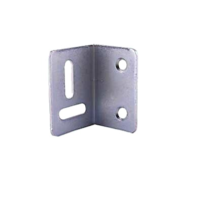 Strong Pattern Angled Table Stretcher Plate - 38 x 25 x 25mm - Bright Zinc Plated