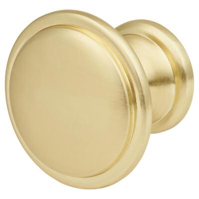 Touchpoint Rim Cabinet Knob - 30mm - Satin Brass