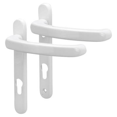 Fab & Fix Windsor Extended Multipoint Lever/Lever Door Handle - uPVC/Timber - 92mm centres - White