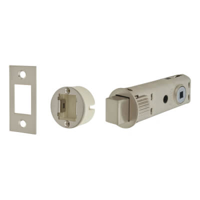 UNION JFL27 FastLatch Tubular Push-Fit Bathroom Deadbolt - 73mm Case - 57mm Backset - Satin Nickel)