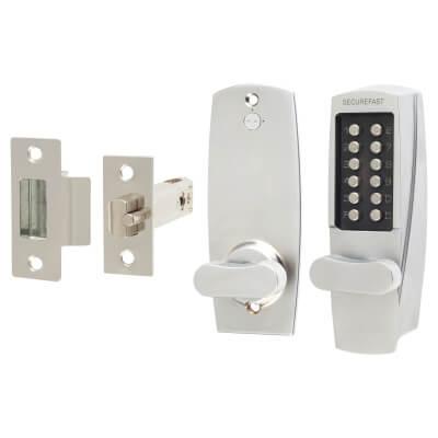 Securefast SBL700.S Mechanical Code Lock - Satin Chrome)