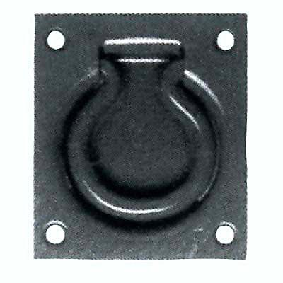 Cellar Flap Trap Door Ring - 90mm - Antique Black Iron