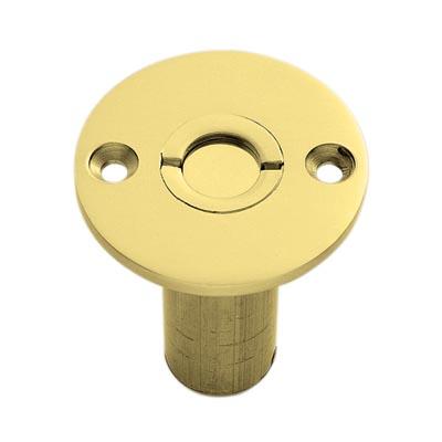 Wooden Floor Socket - 45mm - Polished Brass)
