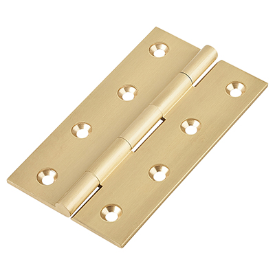 Solid Drawn Hinge - 100 x 60 x 2.5mm - Satin Brass