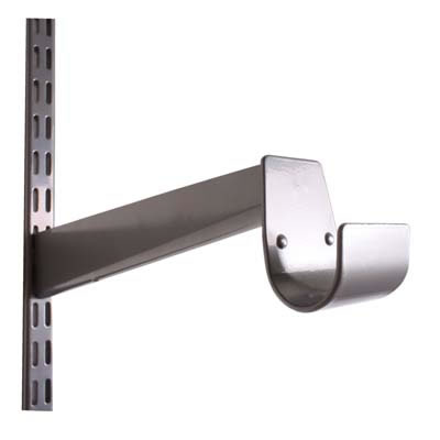 elfa® Hanging Rail Bracket - 325mm - Silver)