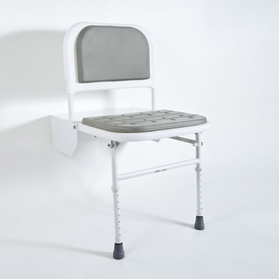 Nymas Doc M Compliant Shower Seat - Grey Padding