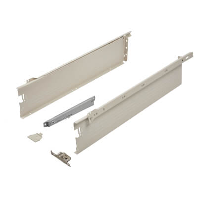 Blum METABOX BLUMOTION Soft Close Drawer Pack - Single Extension - 118mm (H) x 550mm (D) - 30kg