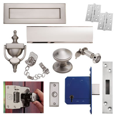 Front Door Furniture Kit - Satin Nickel