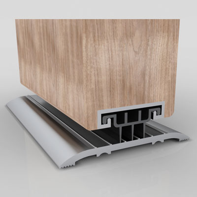 Norsound 850 Door Bottom Seal - 1500mm - Satin Anodised Aluminium)