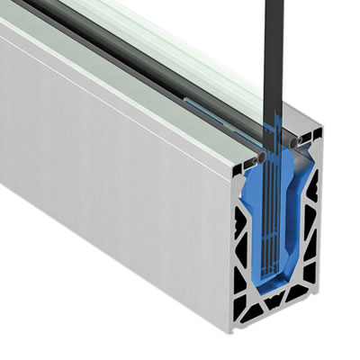 Posiglaze Glass Balustrade System - Base Channel 3 Metre Kit - suit 15mm glass)