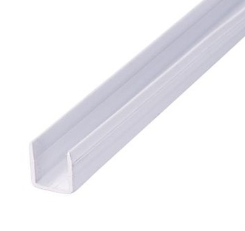 Exitex PB Channel Bulk Pack - 10 x 10mm Groove - Pack of 40 x 3000mm - White