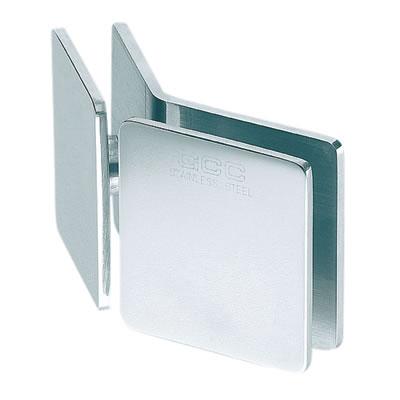 Glass to Glass Clamp - 135 Degree - 8-12mm Glass - Polished Chrome)