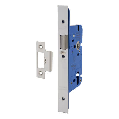 A-Spec Architectural DIN Euro Mortice Nightlatch - 85mm Case - 60mm Backset - Polished Stainless