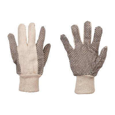 Men's Cotton Grip Gloves)