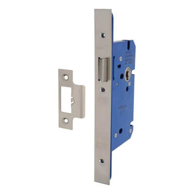 A-Spec Architectural DIN Latch - 85mm Case - 60mm Backset - Satin Stainless