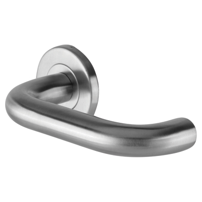 Project 19mm Return to Door Lever Handle on Rose Handle - Satin Stainless Steel