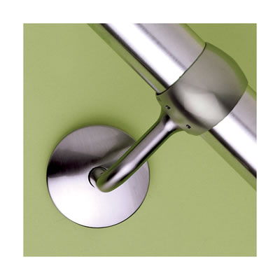 Easi-Rail 40mm Handrail System - Connecting Wall Bracket - Brushed Nickel)