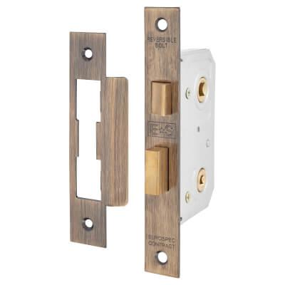 Project Bathroom Lock - 64mm Case - 44mm Backset - Florentine Bronze