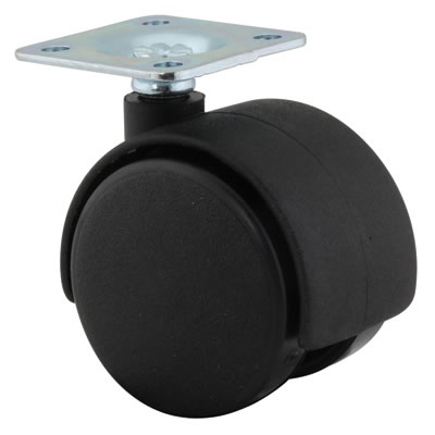 ION Mini Twin Wheel Castor - No Brake - 40mm Wheel Diameter - Pack 4
