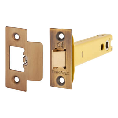 Altro Heavy Duty Tubular Latch - 128mm Case - 107mm Backset - Florentine Bronze