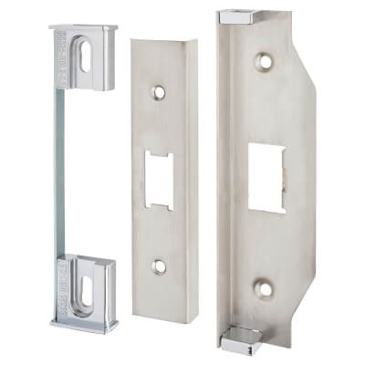 A-Spec 12mm Rebate Kit to suit Heavy Duty Flat Latch - Satin Stainless