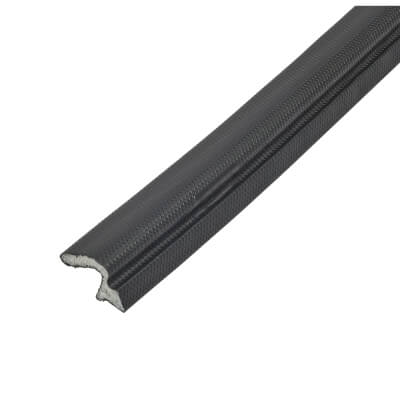 Schlegel Q-Lon 9257 Universal uPVC Door Replacement Seal - 300m - Black)