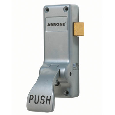 Arrone® Single Door Push Pad Latch - Silver)