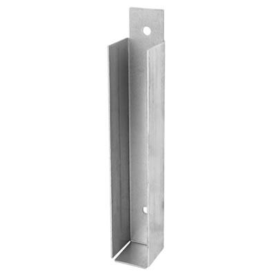 Gravel Board Fence Clip - Galvanised - 25mm)
