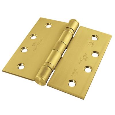 Enduro Twin Ball Bearing Hinge - 102 x 76 x 3mm - PVD Brass)