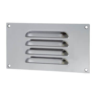 Hooded Louvre Vent - 165 x 89mm - 1672mm2 Free Air Flow - Satin Stainless