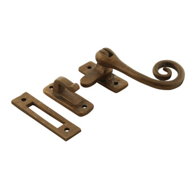 Louis Fraser Curly Tail Window Fastener - Oil Rubbed Bronze)