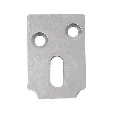Strong Pattern Table Stretcher Plate - Vertical Slot - 38mm - Zinc Plated Steel