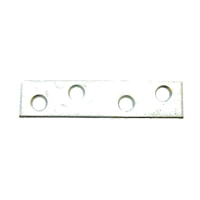 Flat Mending Plate - 100mm - Bright Zinc Plated - Pack 10