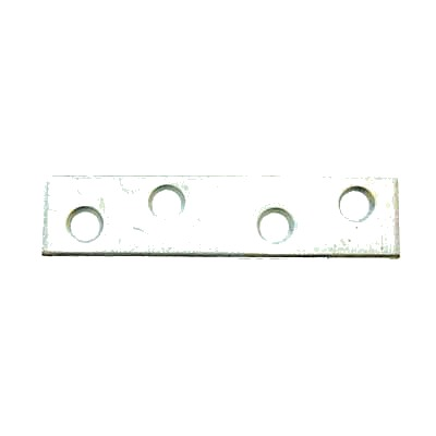 Flat Mending Plate - 100mm - Bright Zinc Plated - Pack 10