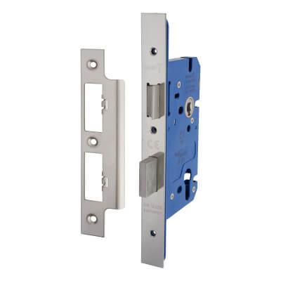 A-Spec Architectural DIN Euro Sashlock - 85mm Case - 60mm Backset - Polished Stainless