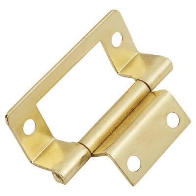 Cranked Type 2 Flush Hinge - 50mm - Brass Plated - Pack of 5 pairs