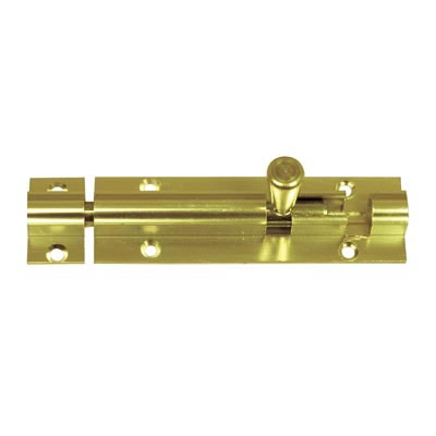 Straight Barrel Bolt - 200 x 32mm - Polished Brass
