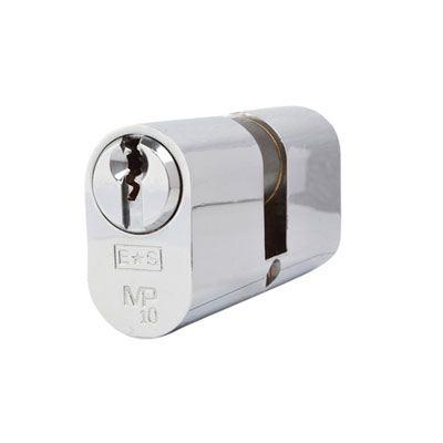 Eurospec MP10 - Oval Double Cylinder - 32 + 32mm - Polished Chrome  - Master Keyed