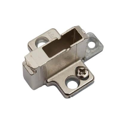 Blum CLIP Mounting Plate - Cruciform - 18mm Spacing - Zinc Diecast