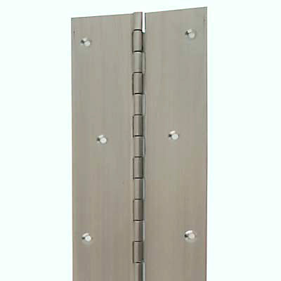 Piano Hinge - 1800 x 76 x 1.2mm - Satin Stainless Steel)