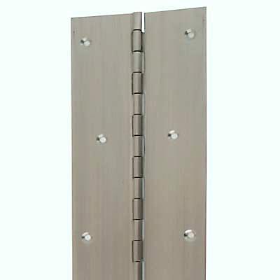 Piano Hinge - 1800 x 76 x 1.2mm - Satin Stainless Steel)