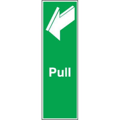 Pull - 150 x 50mm - Rigid Plastic)