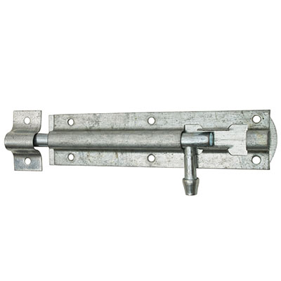 Traditional Tower Bolt - Straight - 100mm - Galvanised)