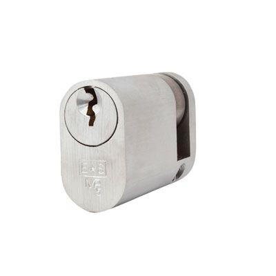Eurospec MP5 - Oval Single - 35 + 10mm - Satin Chrome  - Keyed Alike