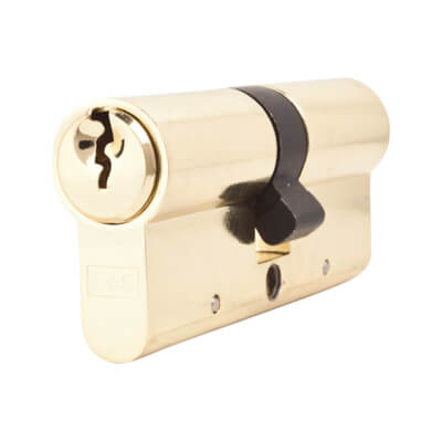 5 Pin Cylinder - Euro Double - 35 + 35mm - Brass