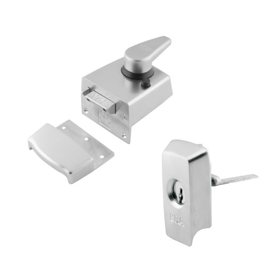 ERA® BS8621:2007 Keyless Egress Nightlatch - 60mm Backset - Satin Chrome