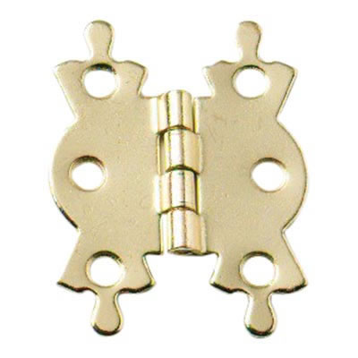 Butterfly Hinge - 42 x 36mm - Electro Brass Plated - Pair