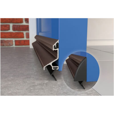 Exitex Standard Rain Deflector and Drip Bar - 914mm - Bronze